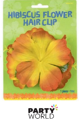 hibiscus flower tropical hair clip