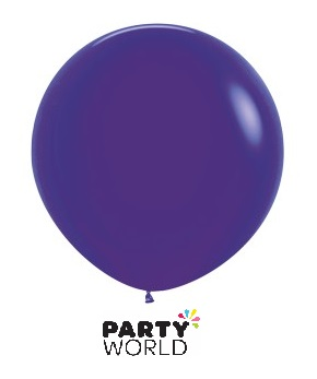 large violet purple latex balloons 90cm