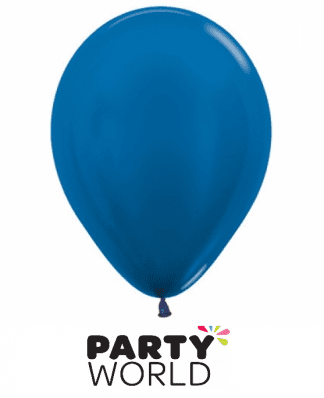 metallic blue latex mini balloons