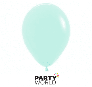 pastel green mini latex balloons