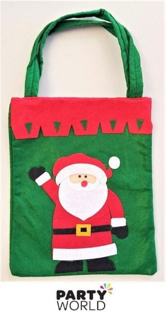 santa claus felt bag christmas pouch