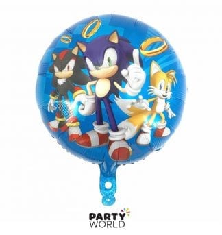sonic the hedgehog foil balloon