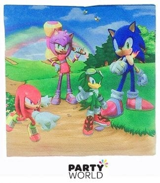 sonic the hedgehog napkins