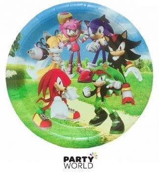 sonic the hedgehog party plates