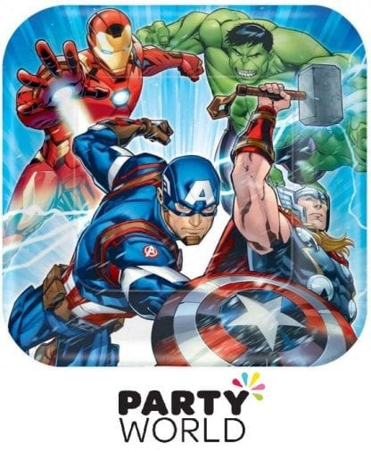 Avengers Epic Party Square 9inch Paper Plates (8pk)
