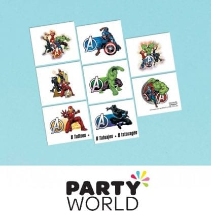 Avengers Party Powers Unite Tattoo Favours (8)