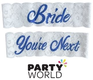 Bride And You're Next Lace Wedding Garters (2)