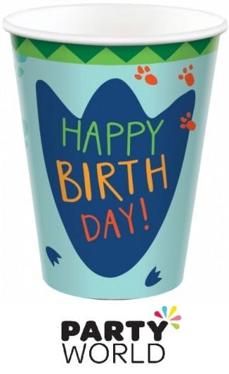 Dino Mite Birthday Party Dinosaur 9oz Paper Cups (8)