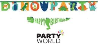 Dino Mite Party Dinosaur Jumbo Letter Banner Kit