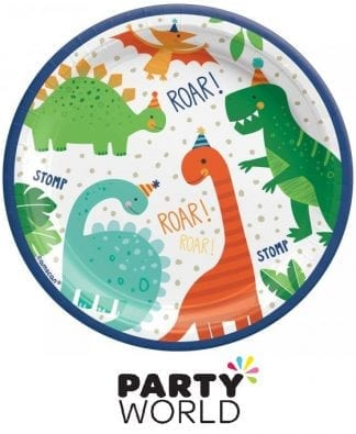 Dino Mite Party Paper Plates 7in (8)