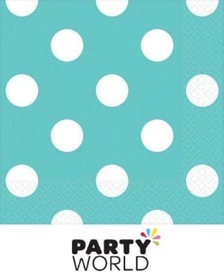 Dots Beverage Napkins - Robins Egg Blue (16)