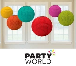 Fiesta Party Paper Lantern Decorations (6)