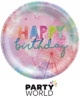 Girl-Chella Birthday 9in Round Paper Plates (16)