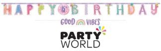 Girl-Chella Birthday Add-An-Age Customisable Letter Banner Kit