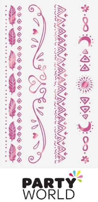 Girl-Chella Birthday Party Bracelet Tattoos (8)