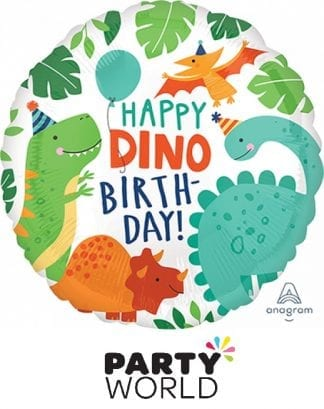 Happy Dino Birthday Foil Party Balloon