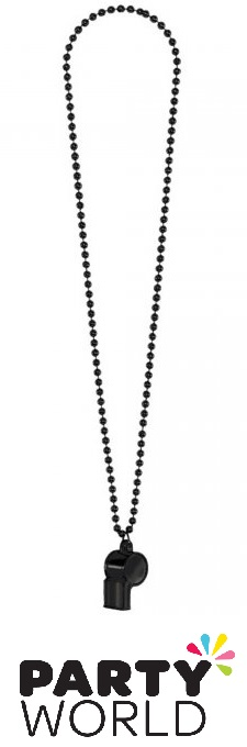 Hen's Party Black Whistle On Chain Necklace