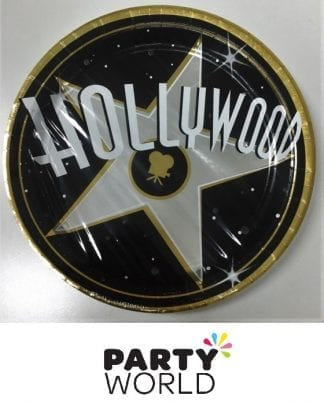 Hollywood Star Large Round Paper Plates (8)