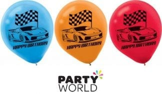 Hot Wheels Party Racecar Latex Balloons (6)