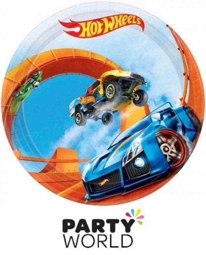 Hot Wheels Party Wild Racer Round 7inch Paper Plates (8)