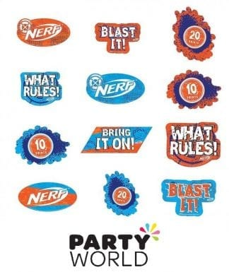 Nerf Party Assorted Cutouts Value Pack (12)