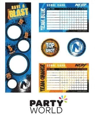 Nerf Party Game With Score Cards