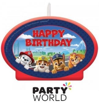Paw Patrol Adventures Large Birthday Candle