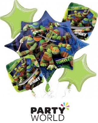 Teenage Mutant Ninja Turtles Bouquet Foil Balloons (5)