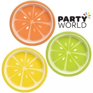 Tutti Frutti Summer Fruits Paper Party 7inch Plates (8)