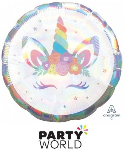 Unicorn Party Iridescent Holographic Foil Balloon