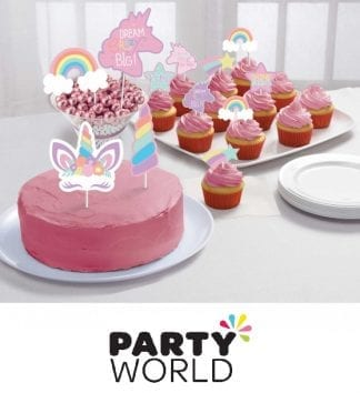 Unicorn Rainbow Party Cake Topper Kit
