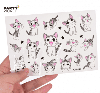 cat temporary tattoos cute kitten kitty cats cat themed favours