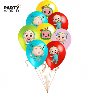 cocomelon party latex balloons