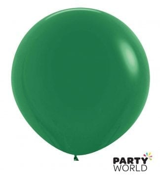 forest green latex balloons large