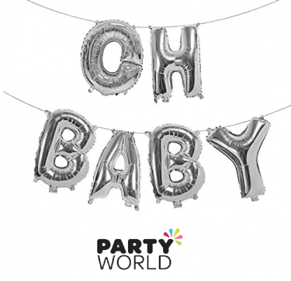 oh baby balloon banner