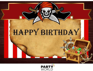 pirate party backdrop happy birthday pirate