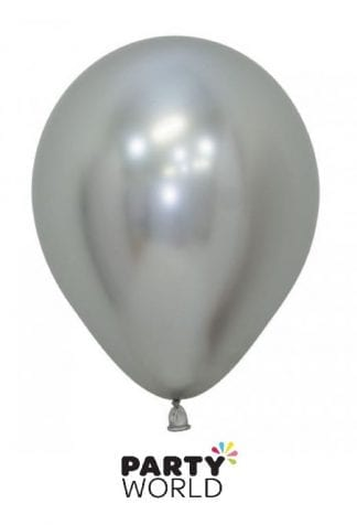 reflex latex mini balloons silver