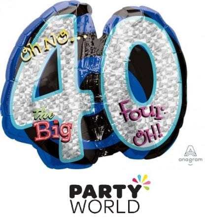 40th Birthday - Oh No The Big Four Oh! Supershape Foil Balloon