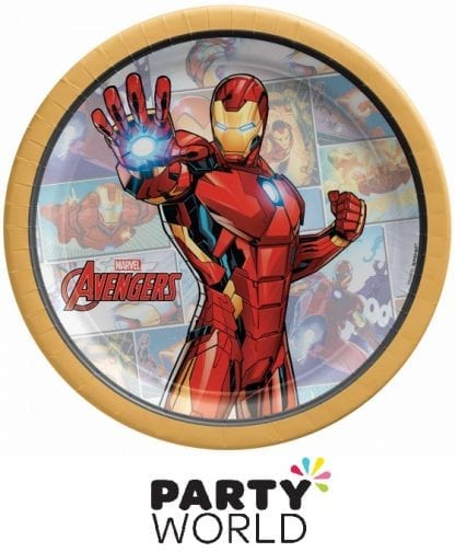 Avengers Party Powers Unite Ironman Paper 7in Plates (8)