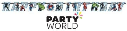 Avengers Powers Unite Party Jumbo Birthday Add An Age Banner
