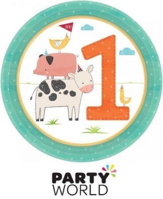 Barnyard 1st Birthday Party 7in Paper Plates (8)