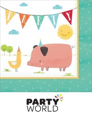 Barnyard Birthday Party Paper Luncheon Napkins (16)
