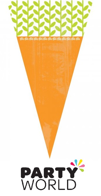 Carrot Shaped Easter Cello Treat Bags (15)