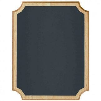 Chalkboard MDF Easel Sign With Natural Wood Edges