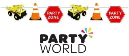 Construction Party Zone Cardboard Bunting