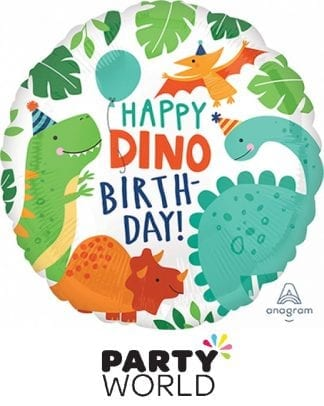 Dino Mite Birthday Party Dinosaur Foil Balloon