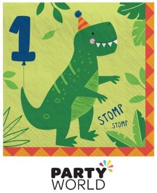 Dino Mite Party Dinosaur Lunch Napkins 1st Birthday (16)