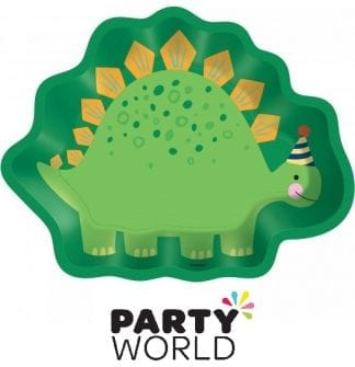 Dino Mite Party Dinosaur Shaped Paper Plates (8)