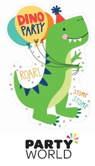Dino Mite Party Postcard Invitations (8)