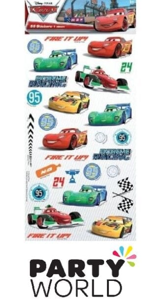 Disney Cars Party Sheet Of Stickers (55)